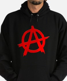Anarchy Symbol Red Hoodie