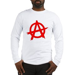 Anarchy Symbol Red Long Sleeve T-Shirt