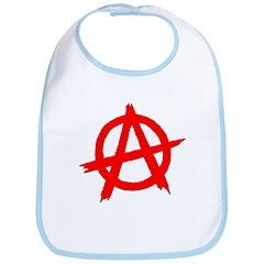 Anarchy Symbol Red Bib