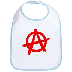 Anarchy Symbol Red Bib