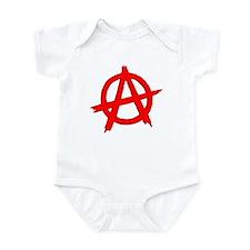 Anarchy Symbol Red Infant Bodysuit