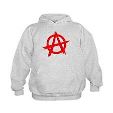 Anarchy Symbol Red Hoodie