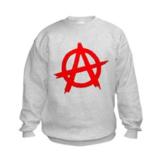 Anarchy Symbol Red Sweatshirt