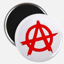Anarchy Symbol Red Magnet