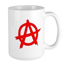 Anarchy Symbol Red Mug