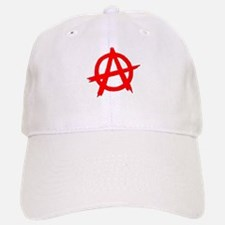 Anarchy Symbol Red Baseball Baseball Cap