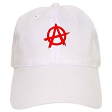 Anarchy Symbol Red Baseball Cap