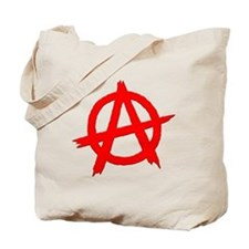 Anarchy Symbol Red Tote Bag