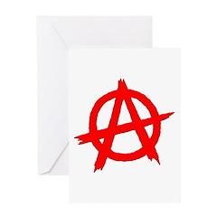Anarchy Symbol Red Greeting Card