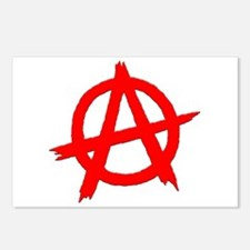 Anarchy Symbol Red Postcards (Package of 8)