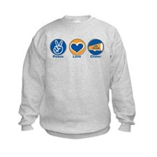 Peace Love Cheer BlOr Sweatshirt