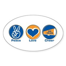 Peace Love Cheer BlOr Decal