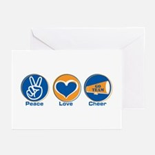 Peace Love Cheer BlOr Greeting Cards (Pk of 20)