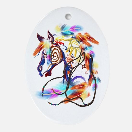 Bright Horse Oval Ornament