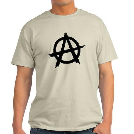 Anarchy Symbol BW Light T-Shirt