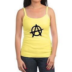 Anarchy Symbol BW Jr.Spaghetti Strap