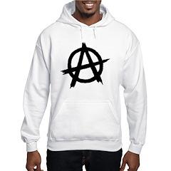 Anarchy Symbol BW Hoodie