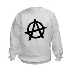 Anarchy Symbol BW Sweatshirt