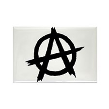 Anarchy Symbol BW Rectangle Magnet
