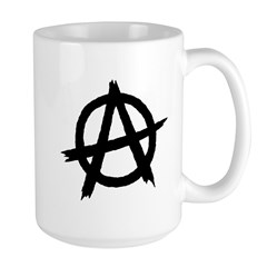 Anarchy Symbol BW Mug
