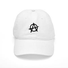 Anarchy Symbol BW Baseball Cap
