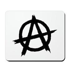 Anarchy Symbol BW Mousepad