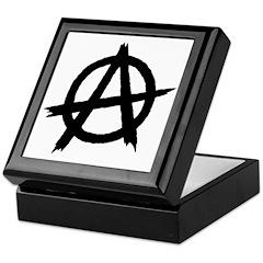 Anarchy Symbol BW Keepsake Box