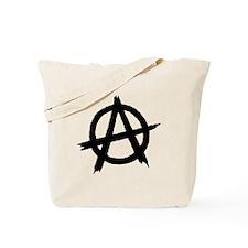 Anarchy Symbol BW Tote Bag