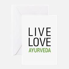 Live Love Ayurveda Greeting Card