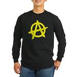 Anarchy Symbol Yellow Long Sleeve Dark T-Shirt