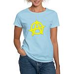 Anarchy Symbol Yellow Women's Light T-Shirt