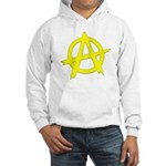 Anarchy Symbol Yellow Hooded Sweatshirt
