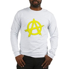 Anarchy Symbol Yellow Long Sleeve T-Shirt