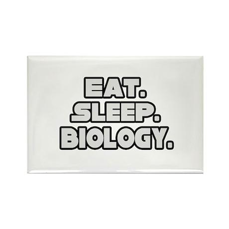 """Eat. Sleep. Biology."" Rectangle Magnet (100 pack)"