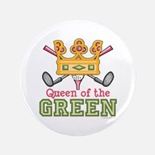 "Queen of the Green Golf 3.5"" Button"