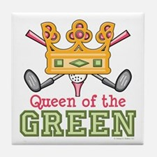 Queen of the Green Womens Golf Tile Coaster
