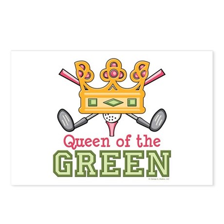 Queen of the Green Golf Postcards (Package of 8)