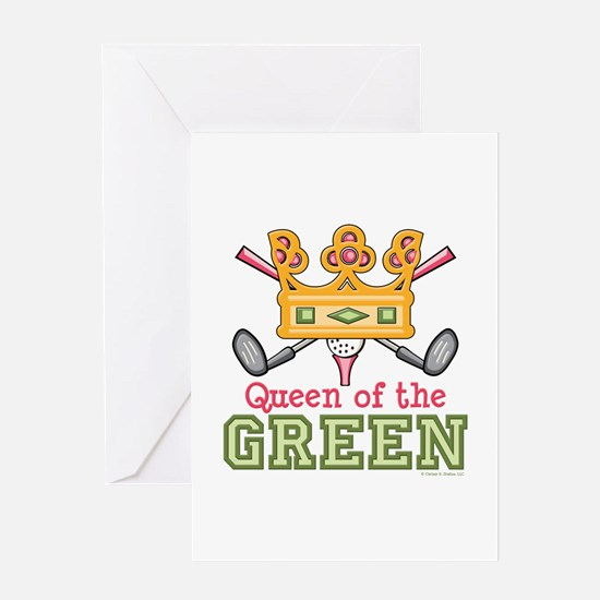 Queen of the Green Womens Golf Greeting Card