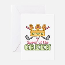 Queen of the Green Golf Greeting Cards (Pk of 10)