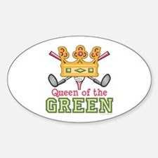 Queen of the Green Womens Golf Oval Decal