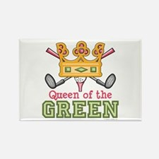 Queen of the Green Golf Rectangle Magnet (100 pack