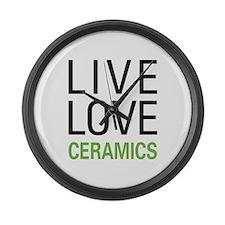 Live Love Ceramics Large Wall Clock