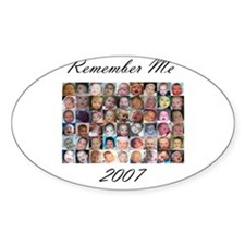 Remember Me Oval Decal