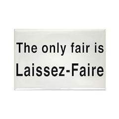 Laissez-Faire Rectangle Magnet