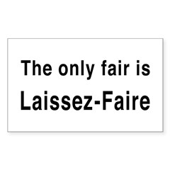 Laissez-Faire Rectangle Decal