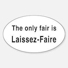Laissez-Faire Oval Decal