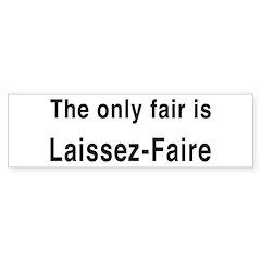 Laissez-Faire Bumper Bumper Sticker