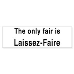 Laissez-Faire Bumper Sticker (10 pk)