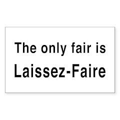 Laissez-Faire Rectangle Sticker 10 pk)