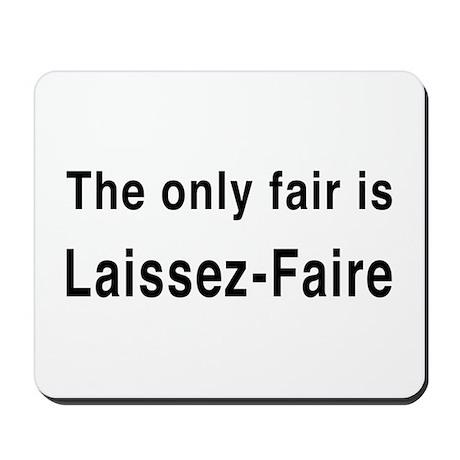Laissez-Faire Mousepad